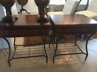 rectangular brown wooden table with two chairs Bradenton, 34212