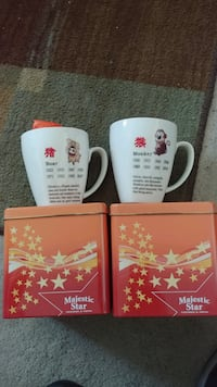 Chinese year of the boar and monkey. Casino cups