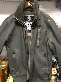 Superdry mens moody bomber ripstop sz M
