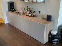 2 BESTA storage units with doors from IKEA