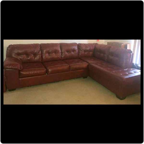 Ashley Furniture, leather 2 Piece Sectional