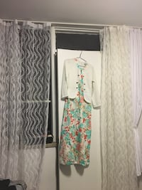 white and green floral print dress Toronto, M3N 1M7