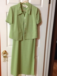 BRAND NEW WITH TAGS LIME GREEN DRESS WITH JACKET Clearview, L0M
