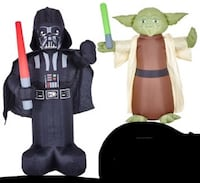 Yoda and Darth Vader inflatable's McAllen, 78504