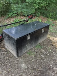 black metal tool box