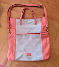 large pink leather fossil bag purse carry