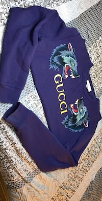 BLUE WOLF GUCCI PULL OVER SIZE XL