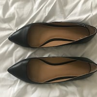 pair of black leather pointed-toe flats Cranston, 02910