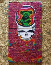 Oil Pastel Grateful Dead Inspired Art Handmade Columbia, 21044