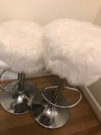 Set of White fur bar stools,price is firm Lanham, 20706