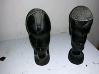 Vintage Hand Carved African Statues Cambridge, 21613