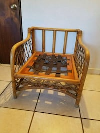 Bamboo style wooden sofa frame null