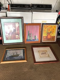 Five assorted paintings and pictures $20 each Petaluma, 94952