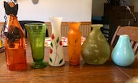 Hand painted/blown glass vases glasses, etc  Peoria, 61607