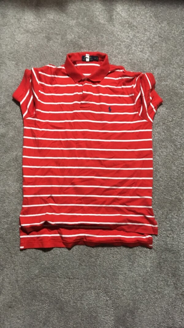 Shirt White Ralph Polo Red And Lauren Striped eE29YHIWD