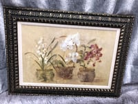 white and pink flowers painting 413 mi