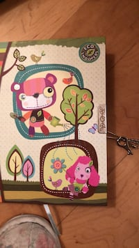 Brand new child's diary with key. Laval, H7Y 2C1