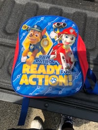 Paw Patrol- Ready for action backpack,  blue and red