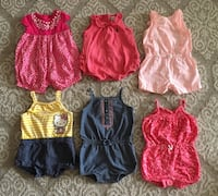 3-6 month rompers. All for $12 Aventura, 33180