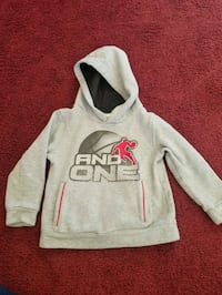 gray and red Pink pullover hoodie Leon Valley