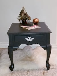 Deep charcoal wooden End table or beautiful night table, night stand Mississauga, L5J 4G2