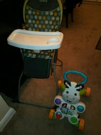 baby's white and blue high chair Baltimore, 21229