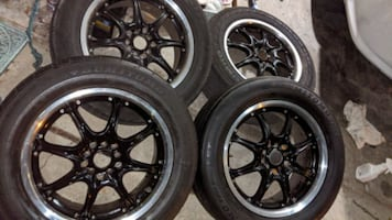 17 x 7 wheels and tire set