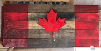 Wood Canadian Flag ready for Canada day! Vaughan, L4L 8N6