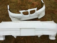 white aftermarket front and back bumpers