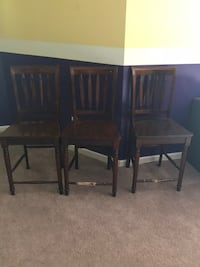 Three brown wooden side tables Leesburg, 20176