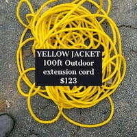 100 ft extension cord yellow jacket outdoor illumi Oakdale, 15071