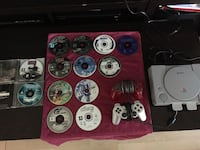 Original PS1 system with 13 Games, 2 Controllers, 2 Memory Cards Beiseker, T0M 0G0