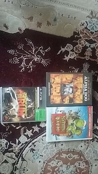 two dvd movies; PS3 game