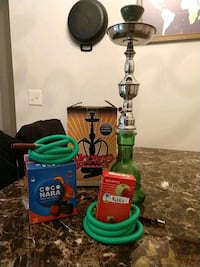 Hookah w/ two hoses, hookah tobacoo, and charcoal Lady Lake, 32159