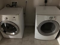 white front-load clothes washer and dryer set Fairfax, 22030