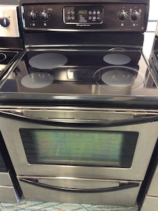 gray induction range oven