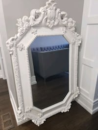 Large White Decorative Mirror