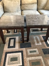 brown wooden framed gray marble top coffee table San Diego, 92114