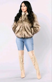 NEW Fur Faux Coat, Colour Nuteral, Fashion Nova Greater London, W5 5JY