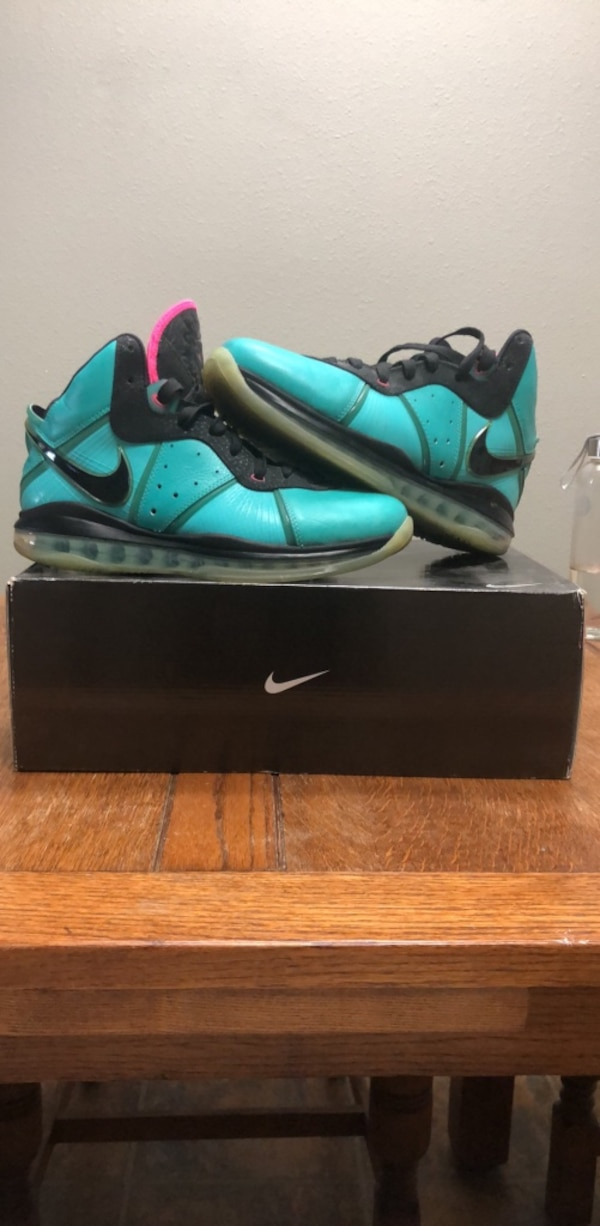 c1322b770 Nike Lebron 8 South Beach Size 9.5