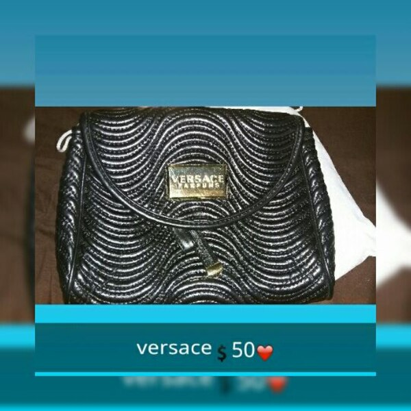 Used women s gray and silver versace sling bag for sale in Laredo - letgo 47f73ed486