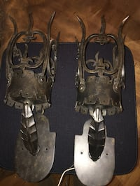 Rod Iron Castle Sconces (2)