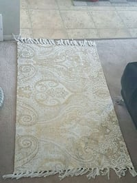 gray and white floral area rug Edmonton, T6R 0E7