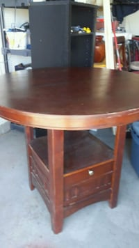 round brown wooden high table only Palmdale