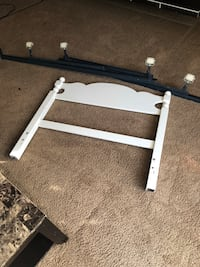 white and black metal bed frame Abbotsford, V2S 4A1