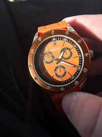 round gold-colored chronograph watch with black strap Jacksonville, 32218
