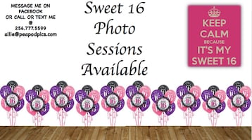 Sweet 16th Photo Sessions Available