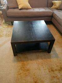 Square Coffee Table - Dark Espresso distressed  Frederick, 21701