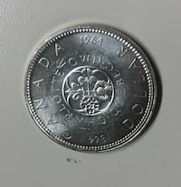 1964 Canadian Silver Dollar - FREE SHIPPING - S101