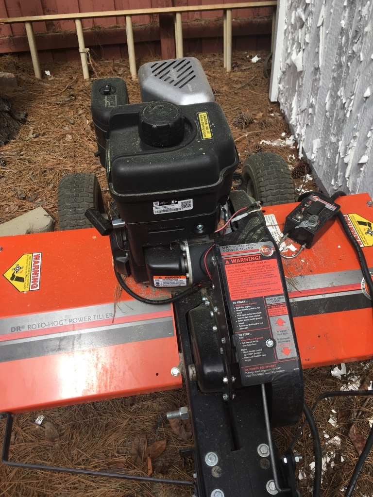 Photo DR Tiller 36 inch pull behind lawnmower or four wheeler.